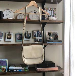 Vintage cream coach crossbody purse